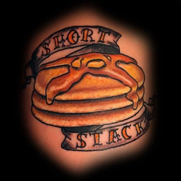 Guys Pancake Tattoo Design Ideas