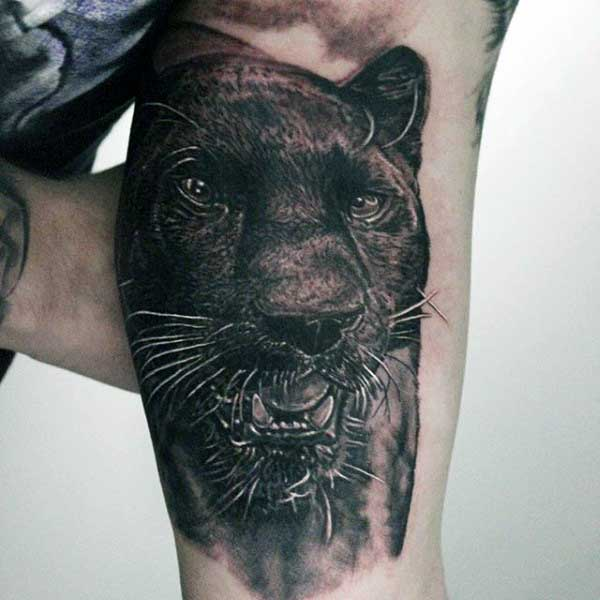 Guys Panther Tattoo Ideas On Bicep