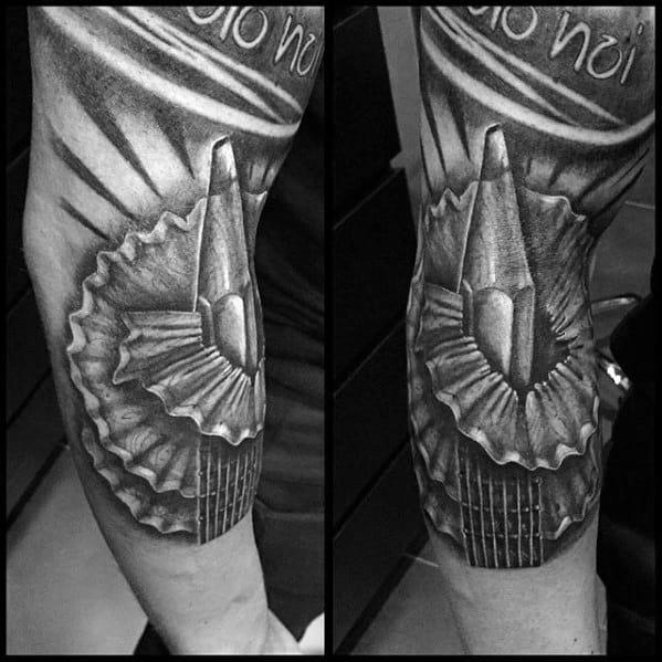 Guys Pencil Shavings Forearm 3d Tattoo Design Idea Inspiration