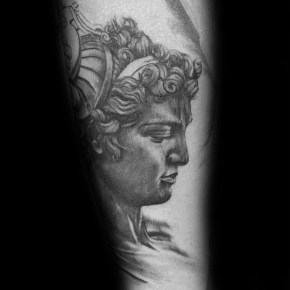 Guys Perseus Tattoo Design Ideas On Outer Forearm