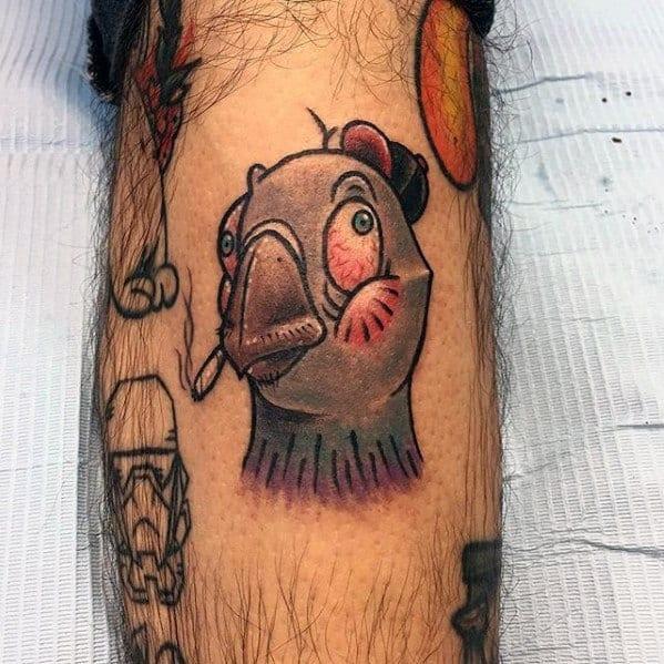 Guys Pigeon Tattoo Designs