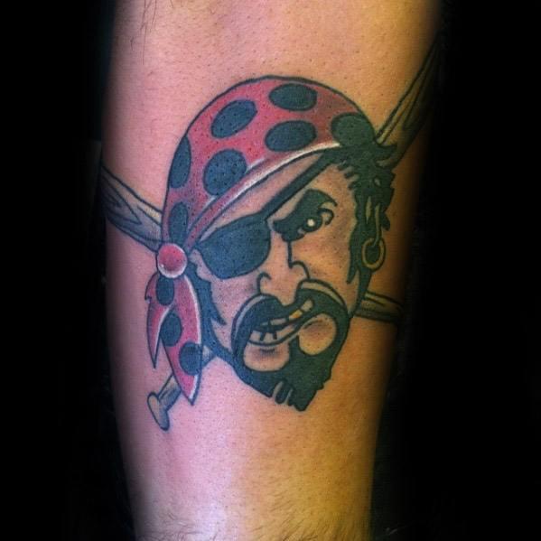 Guys Pittsburgh Pirates Tattoo Design Ideas