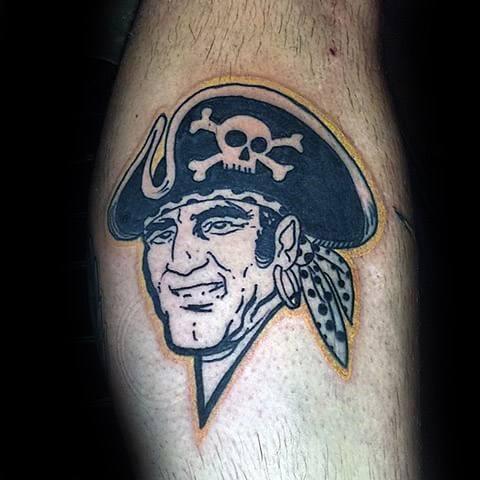Guys Pittsburgh Pirates Tattoos