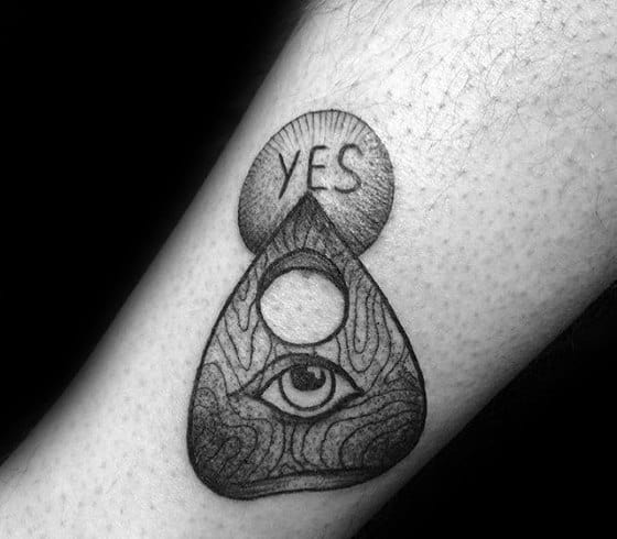 Guys Planchette Tattoos On Forearm