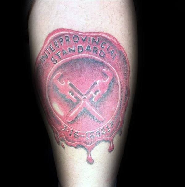 Guys Plumbing Tattoo Designs