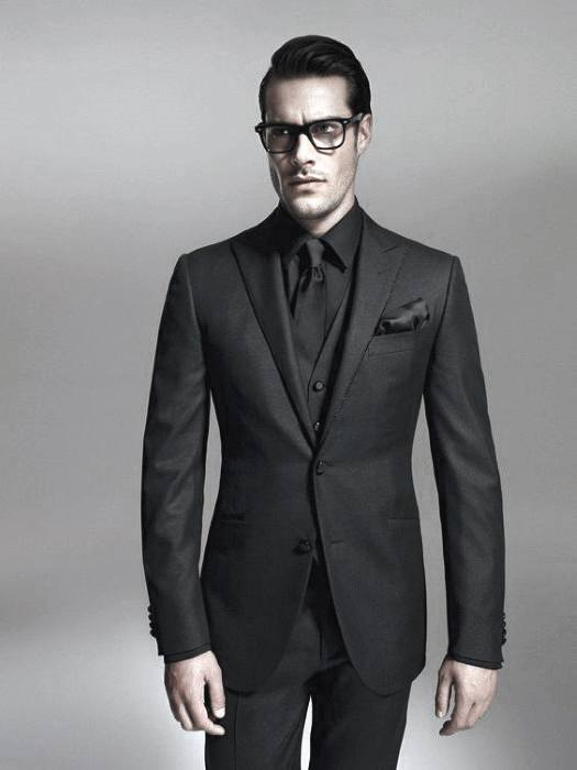 40 all black outfits for men bold fashionable looks for Black suit with black shirt and tie