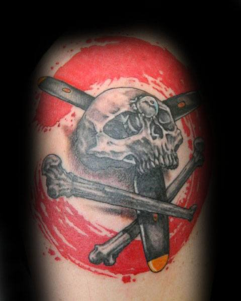 Guys Propeller Tattoo Design Ideas