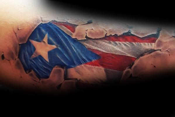 50 Puerto Rican Flag Tattoo Ideas For Men - Puerto Rico Designs