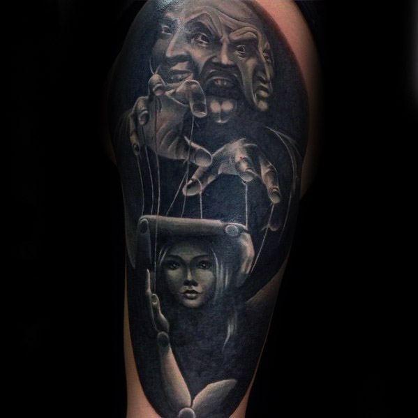 Guys Puppet Tattoo Design Ideas