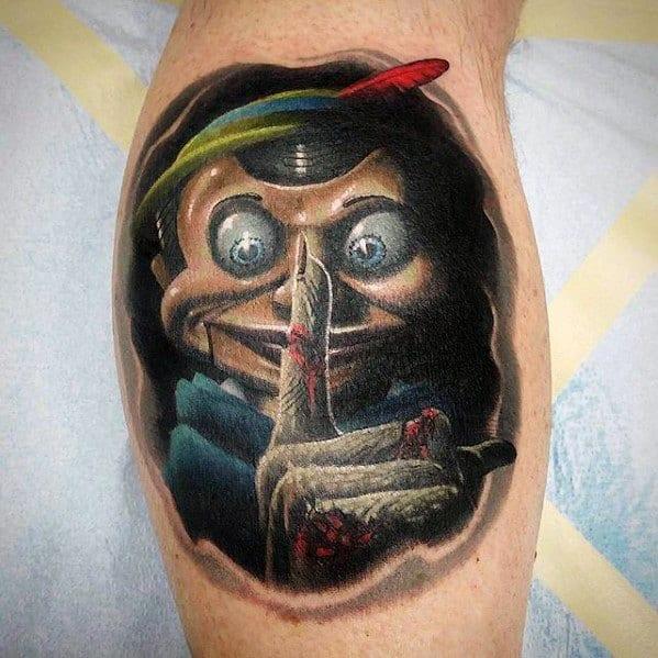 Guys Puppet Tattoo Designs