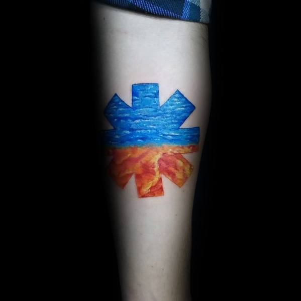 Guys Red Hot Chili Peppers Tattoo Design Ideas