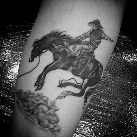Guys Rodeo Tattoo Design Ideas