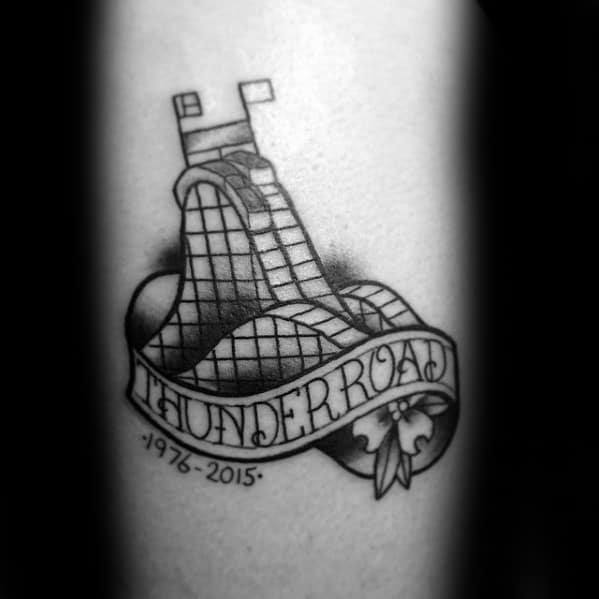 dc0054f019f03 30 Roller Coaster Tattoo Designs For Men - Amusement Ride Ideas