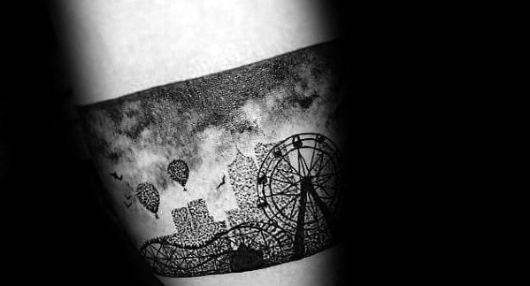 Guys Roller Coaster Tattoo Designs