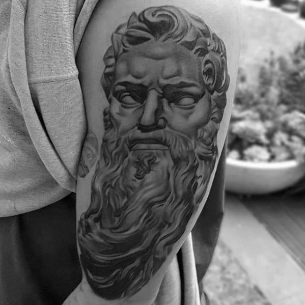 Guys Roman Statue Tattoo Design Ideas On Arm