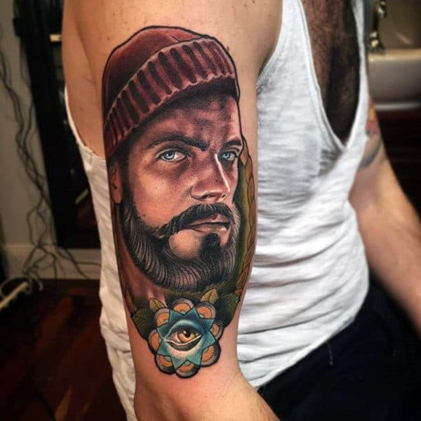 Top 75 best sailor tattoos for men classic nautical designs for Sailer jerry tattoo