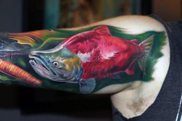 Guys Salmon Tattoos