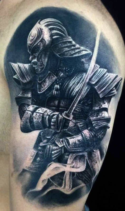 Guy's Samurai Jack Tattoo On Arm