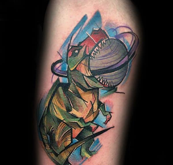 Guys Saturn Tattoo Designs