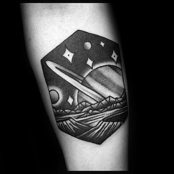 Guys Saturn Tattoo