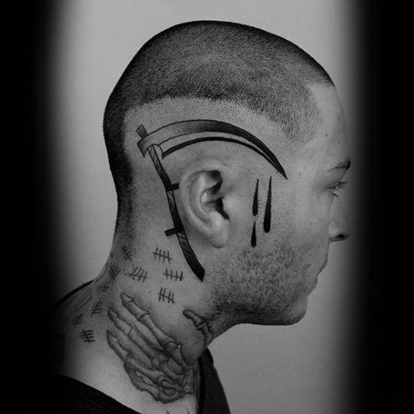 50 scythe tattoo designs for men curved blade ink ideas. Black Bedroom Furniture Sets. Home Design Ideas
