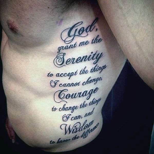 50 serenity prayer tattoo designs for men uplifting ideas. Black Bedroom Furniture Sets. Home Design Ideas