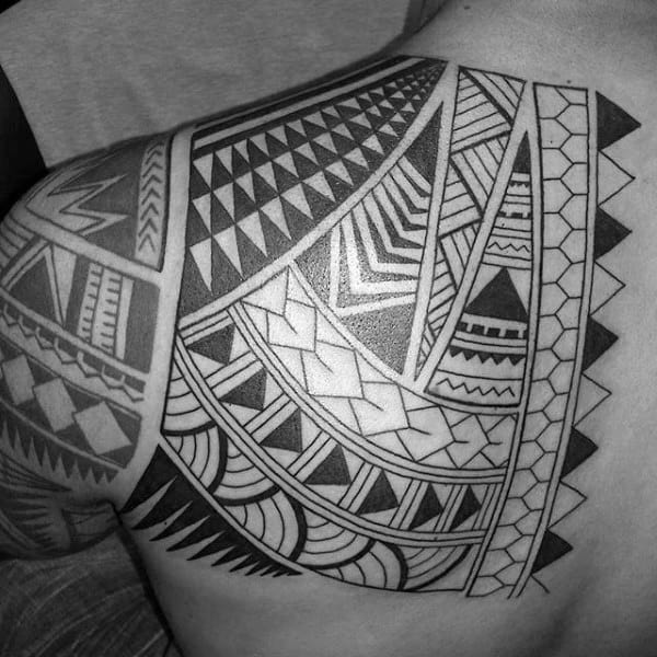 Guys Shoulder Tribal Tattoo