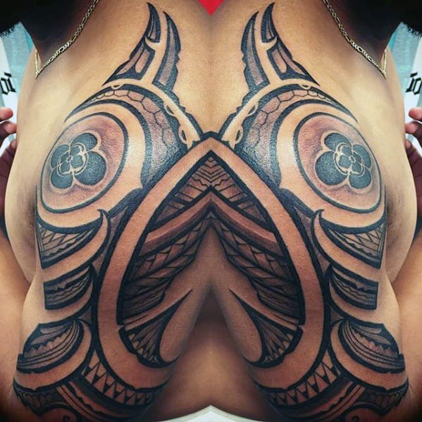Guys Sick Polynesian Tribal Tattoo Ideas