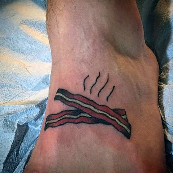 Guys Side Ribs Bacon Tattoo