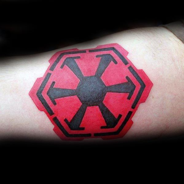Guys Sith Symbol Arm Tattoo Design Ideas