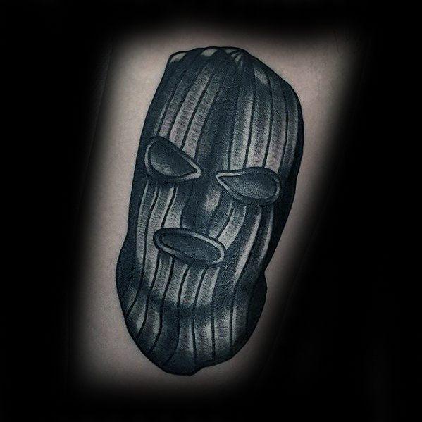 Guys Ski Mask Tattoo Design Ideas