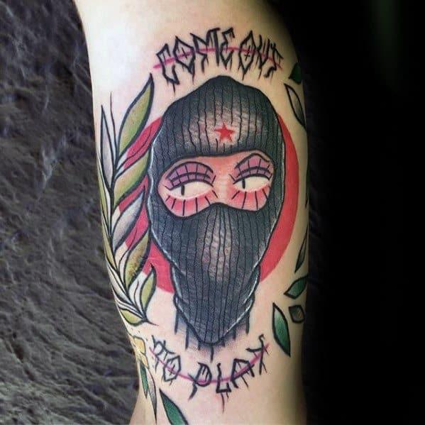 Guys Ski Mask Tattoos