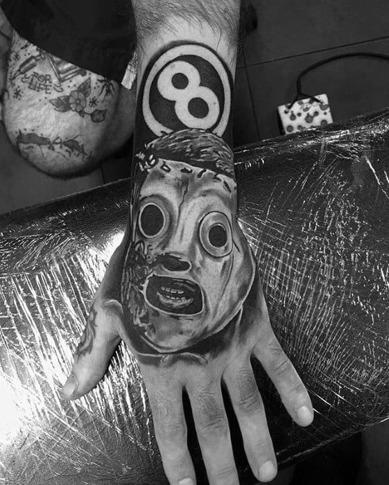 Guys Slipknot Tattoo Design Ideas On Hand