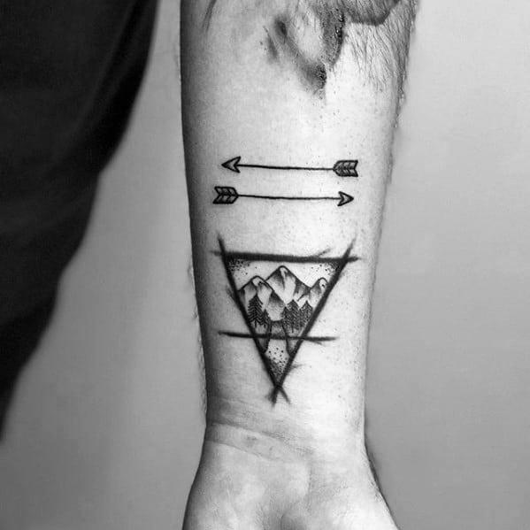 Guys Small Arrow Tattoo Deisgns On Wrist