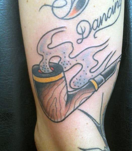 Guy's Smoke Tattoos Designs