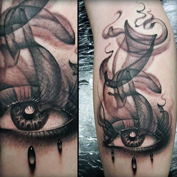 Guy's Smoking Eye Tattoos