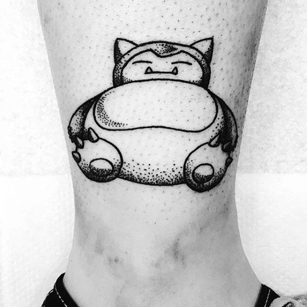 Guys Snorlax Tattoo Designs