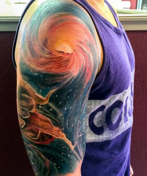 Guy's Spaceship Tattoo