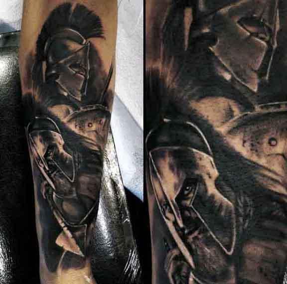 Guy's Spartan Symbol Tattoos