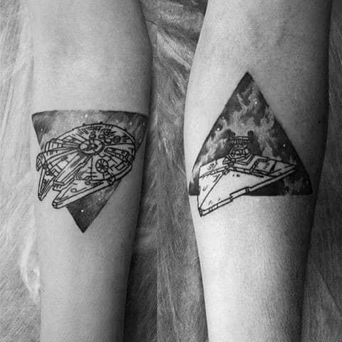 Guys Star Destroyer Tattoo Design Ideas