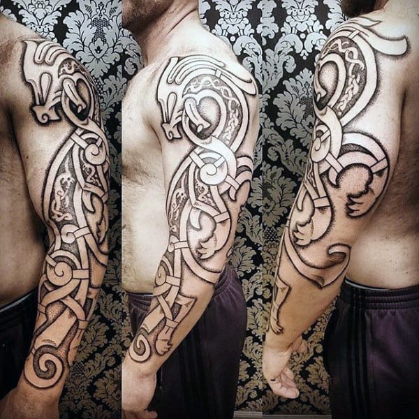 Viking dragon tattoo images galleries for Ancient scandinavian designs