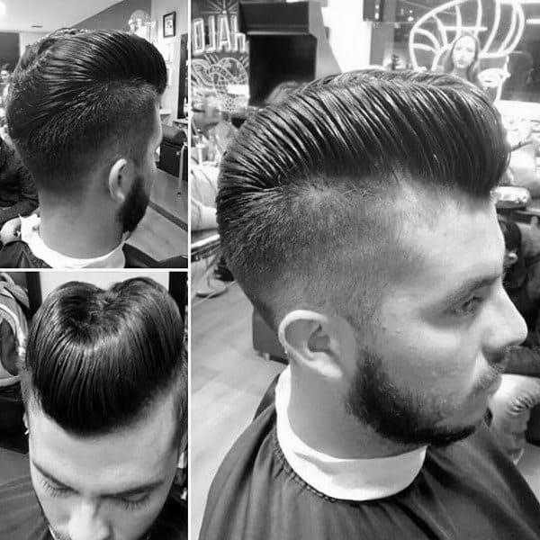Guys Stylish Hair Ducktail On Back Of Head