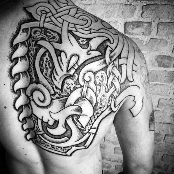 100 Norse Tattoos For Men - Medieval Norwegian DesignsNorse Viking Tattoo Ideas