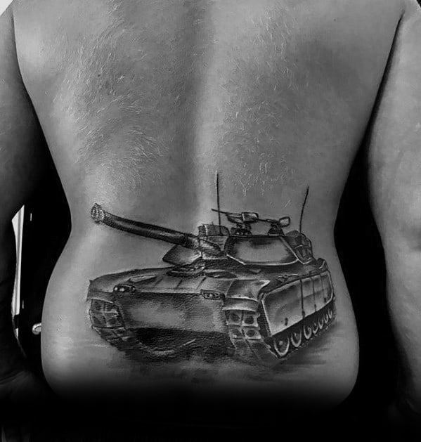 Guys Tank Tattoo Design Idea Inspiration
