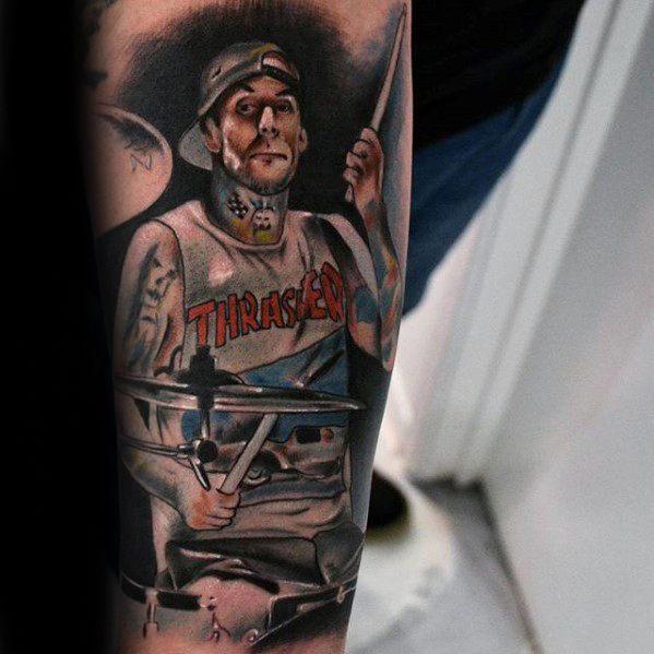 Guys Tattoo 3d Ideas Blink 182 Designs