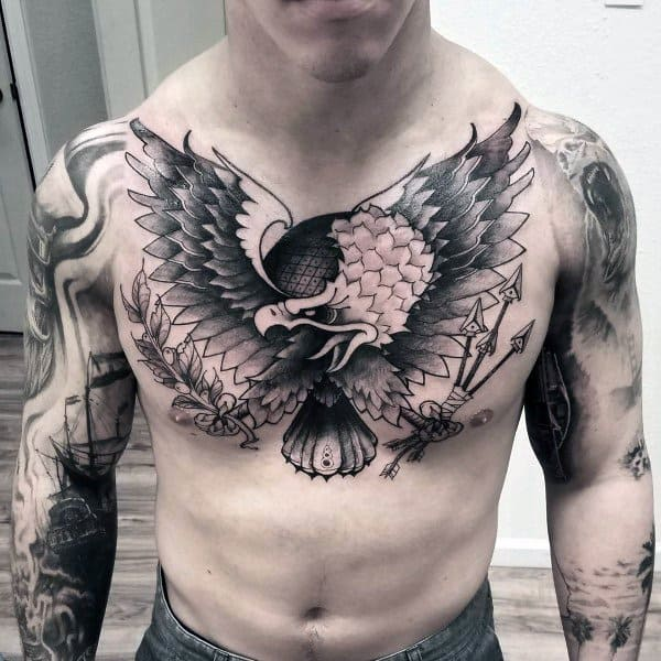Guys Tattoo Badass Eagle
