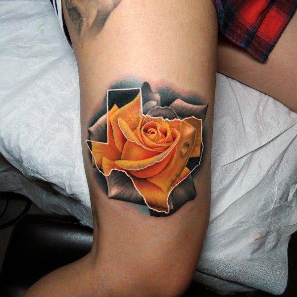 Guys Tattoo Badass Rose