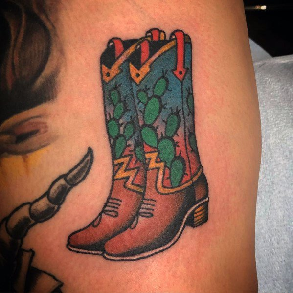 Guys Tattoo Cowboy Boot
