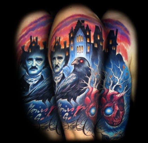 Guys Tattoo Edgar Allan Poe