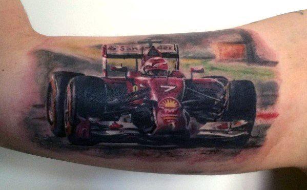 Guys Tattoo Ferrari
